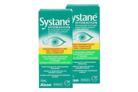 Systane Hydration 2 x 10 ml Augentropfen ohne Konservierungsstoffe von Alcon |