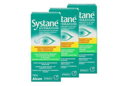 Systane Hydration 3 x 10 ml Augentropfen ohne Konservierungsstoffe von Alcon |