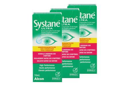 Systane Ultra 3 x 10 ml Augentropfen ohne Konservierungsstoffe von Alcon |