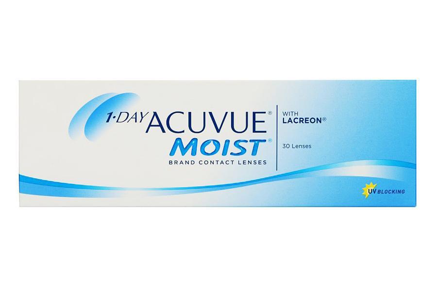 Image of 1-Day Acuvue Moist, 30 Stück Kontaktlinsen von Johnson & Johnson