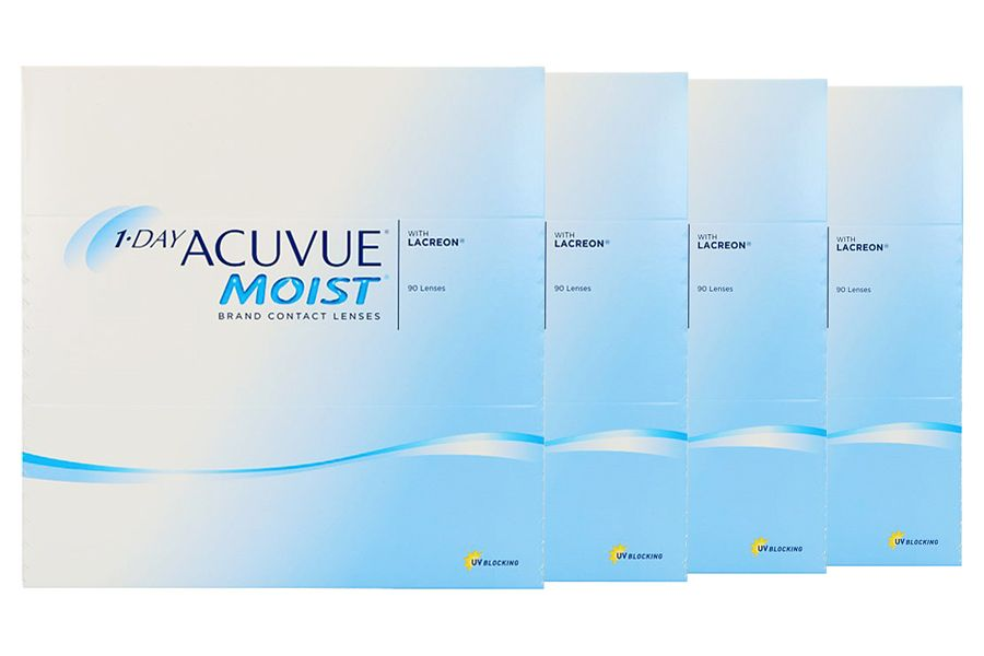 Image of 1-Day Acuvue Moist 2x180 Stück Kontaktlinsen von Johnson & Johnson, Sparpaket 6 Monate