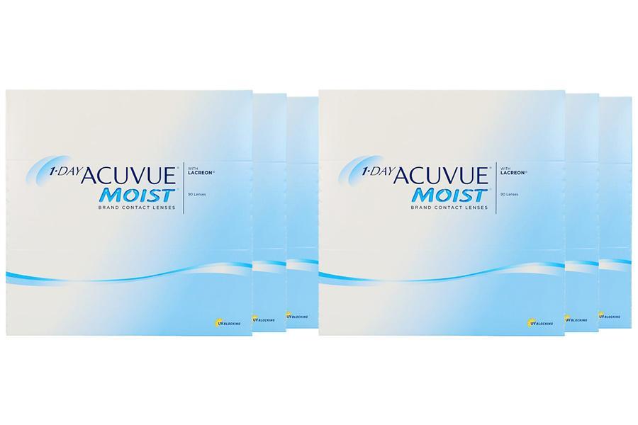 Image of 1-Day Acuvue Moist 2x270 Stück Kontaktlinsen von Johnson & Johnson, Sparpaket 9 Monate