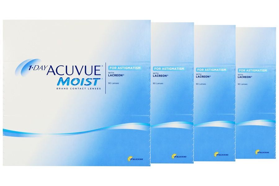 Image of 1-Day Acuvue Moist for Astigmatism 2x180 Stück Kontaktlinsen von Johnson & Johnson, Sparpaket 6 Monate