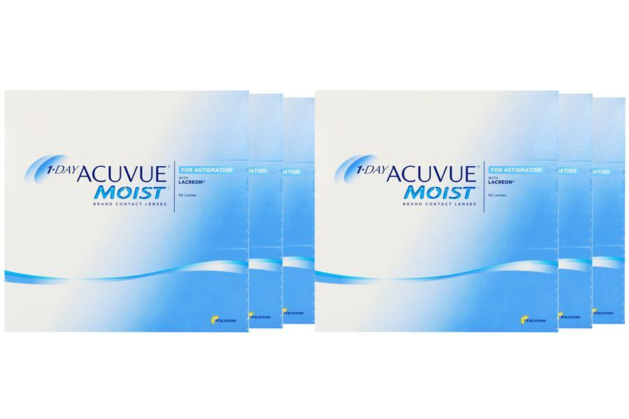 Image of 1-Day Acuvue Moist for Astigmatism 2x270 Stück Kontaktlinsen von Johnson & Johnson, Sparpaket 9 Monate