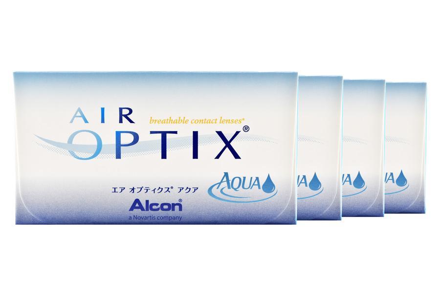 Image of Air Optix Aqua, 4 x 6 Stück Kontaktlinsen von Ciba Vision