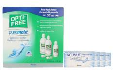 Acuvue Oasys Kontaktlinsen von Johnson & Johnson + Opti Free Pure Moist, Halbjahres-Sparpaket