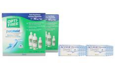 Acuvue Oasys Kontaktlinsen von Johnson & Johnson + Opti Free Pure Moist, Jahres-Sparpaket
