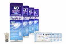 Acuvue Oasys 4x6 Zwei-Wochenlinsen + AoSept Plus HydraGlyde Halbjahres-Sparpaket
