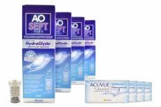 Acuvue Oasys for Astigmatism Kontaktlinsen von Johnson & Johnson + AoSept Plus HydraGlyde, Halbjahres-Sparpaket