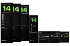 Dynalens 30 Fresh 2 x 6 Monatslinsen + Dynaeasy 14 Halbjahres-Sparpaket
