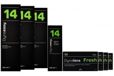 Dynalens Fresh Toric 4x3 Monatslinsen + Dynaeasy 14 Halbjahres-Sparpaket