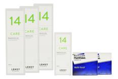 Halbjahres-Sparpaket, Pure Vision Multifocal Kontaktlinsen von Bausch & Lomb + Lensy Care 14