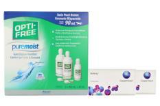 Biofinity Kontaktlinsen von Cooper Vision & Opti Free Pure Moist, Halbjahres-Sparpaket