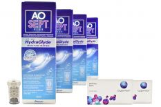 Biofinity toric 2 x 6 Monatslinsen + AoSept Plus HydraGlyde Halbjahres-Sparpaket