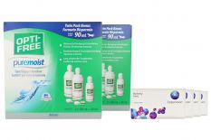 Biofinity toric Kontaktlinsen von Cooper Vision & Opti Free Pure Moist, Jahres-Sparpaket