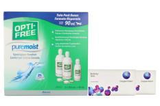 Biofinity toric Kontaktlinsen von Cooper Vision & Opti Free Pure Moist, Halbjahres-Sparpaket