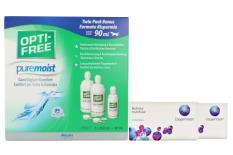Biofinity multifocal Kontaktlinsen von Cooper Vision & Opti Free Pure Moist, Halbjahres-Sparpaket