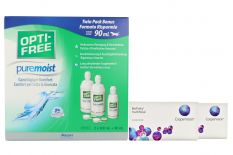 Biofinity multifocal 2 x 6 Monatslinsen + Opti Free Pure Moist Halbjahres-Sparpaket