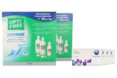 Biofinity multifocal Kontaktlinsen von Cooper Vision & Opti Free Pure Moist, Jahres-Sparpaket