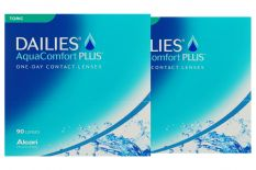 Dailies AquaComfort Plus Toric Sparpaket 3 Monate 2x90 Stück Kontaktlinsen, von Ciba Vision / Alcon
