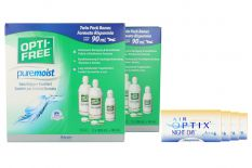 Air Optix Night & Day Aqua 4x6 Monatslinsen + Opti-Free PureMoist Jahres-Sparpaket
