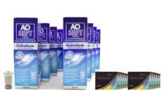 Air Optix Colors farbige Kontaktlinsen von Ciba Vision & AoSept Plus HydraGlyde, Jahres-Sparpaket