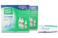 Air Optix for Astigmatism Kontaktlinsen von Ciba Vision & Opti Free Pure Moist, Jahres-Sparpaket