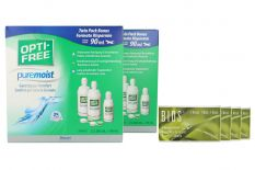 Bios 1-Monat 4 x 6 Monatslinsen + Opti Free Pure Moist Jahres-Sparpaket