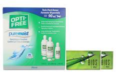 Bios Comfort 2 x 6 Monatslinsen + Opti Free Pure Moist Halbjahres-Sparpaket