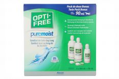 Opti-Free PureMoist 2x300ml + 90ml Travel Pack (EverMoist)