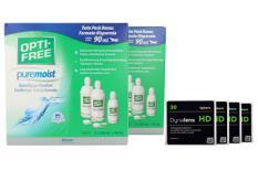 Dynalens 30 HD Kontaktlinsen von Dynoptic & Opti Free Pure Moist, Jahres-Sparpaket