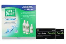Dynalens 30 Fresh Kontaktlinsen von Dynoptic & Opti Free Pure Moist, Halbjahres-Sparpaket