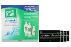 Dynalens 30 Fresh Toric Kontaktlinsen von Dynoptic & Opti Free Pure Moist, Halbjahres-Sparpaket