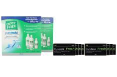 Dynalens 30 Fresh Toric Kontaktlinsen von Dynoptic & Opti Free Pure Moist, Jahres-Sparpaket