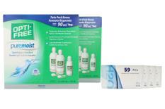Extreme H2O 59 Xtra Kontaktlinsen & Opti Free Pure Moist, Jahres-Sparpaket