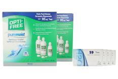Extreme H2O 59 Thin 4 x 6 Monatslinsen + Opti Free Pure Moist Jahres-Sparpaket