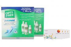 Proclear 4x6 Monatslinsen + Opti Free Pure Moist Jahres-Sparpaket