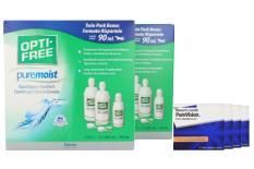 PureVision Toric Kontaktlinsen von Bausch & Lomb & Opti Free Pure Moist, Jahres-Sparpaket