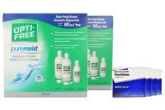PureVision Multifocal Kontaktlinsen von Bausch & Lomb & Opti Free Pure Moist, Jahres-Sparpaket