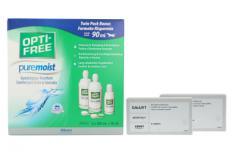Lensy Monthly Smart Spheric 2 x 6 Monatslinsen + Opti Free Pure Moist Halbjahres-Sparpaket