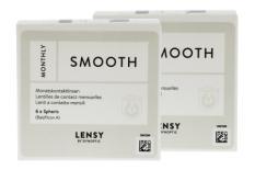 Lensy Monthly Smooth Spheric, 2 x 6 Stück Kontaktlinsen von Dynoptic