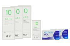 Acuvue Vita 2 x 6 Monatslinsen + Lensy Care 10 Halbjahres-Sparpaket