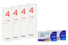 Acuvue Vita for Astigmatism 2 x 6 Monatslinsen + Lensy Care 4 Halbjahres-Sparpaket