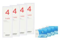 Fusion 7 Days 4 x 12 Wochenlinsen + Lensy Care 4 Halbjahres-Sparpaket